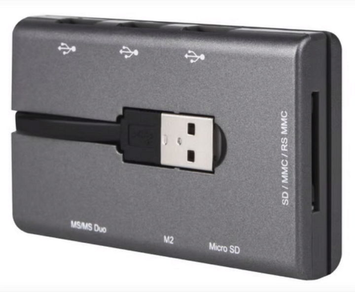 Canyon Combo CNE-CMB1 - Картридер для мобильных устройств (OTG); внешний; 3x USB 2.0a • Типы карт: 18 B9CNECMB1