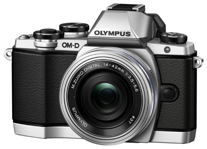 Olympus OM-D E-M10 Kit (EZ-M1442 II R), silver - (17.2 млн, 1920x1080, 8 кадр./сек, ЖК-экран: поворотный, сенсорный, 1037000 точек, 3 дюйма)