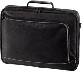 """Hama Sportsline H-101094, Black grey - сумка; под диагональ экрана 17.3""""; синтетический (политекс); защита от воды; размер 46x38x7"""