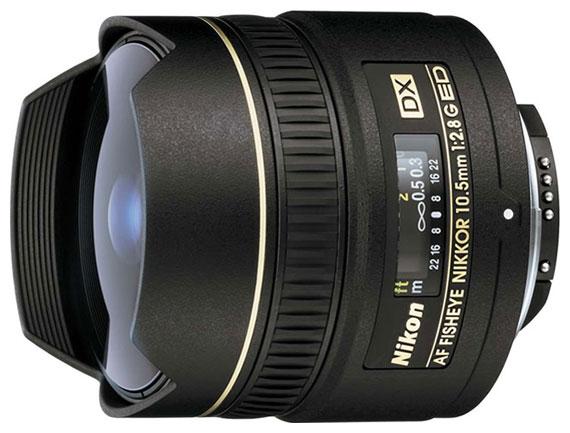 "Nikon 10.5mm f/2.8G ED DX Fisheye-Nikkor - (""рыбий глаз""; ФР 10.5 мм; F2.80 • Автофокус есть. • Неполнокадровый да)"