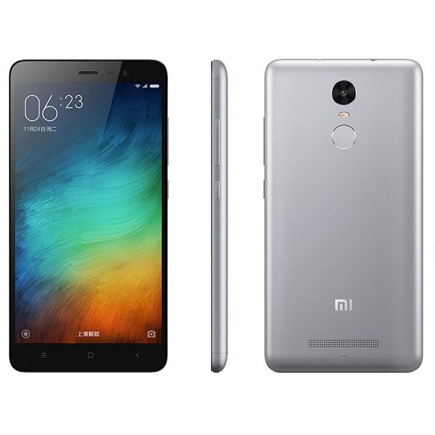 Xiaomi Redmi Note 3 Pro 16Gb gray - (; GSM 900/1800/1900, 3G, 4G LTE, LTE-A Cat. 7, VoLTE; SIM-карт 2 (micro-SIM + nano-SIM); Qualcomm Snapdragon 650 MSM8956, 1800 МГц; RAM 2 Гб; ROM 16 Гб; 4050 мАч; 16 млн пикс., светодиодная вспышка; есть, 5 млн пикс.; датчики - освещенности, приближения, гироскоп, компас, считывание отпечатка пальца)