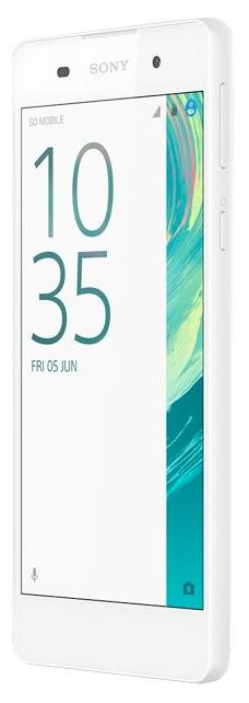 Sony Xperia E5, White - (; GSM 900/1800/1900, 3G, 4G LTE, LTE-A Cat. 4; SIM-карт 1 (nano SIM); MediaTek MT6735, 1300 МГц; RAM 1.50 Гб; ROM 16 Гб; 2300 мАч; 13 млн пикс., светодиодная вспышка; есть, 5 млн пикс.)