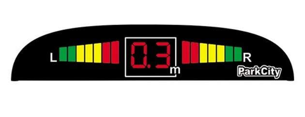 ParkCity Center 420/102 Silver - Экран светодиодный; точность 10 см; 4 датчика • Расстояние: 1,8 м … 0.3 м