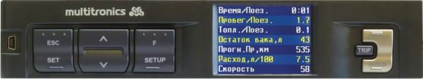 Multitronics C350 - (9 - 16 В; Экран ЖК, цветной, 2.4''; 320x240; Мультидисплей есть)