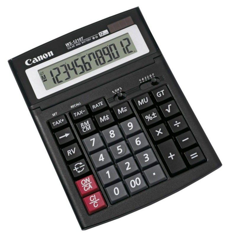 Калькулятор Canon WS-1210T 12-разрядный, black