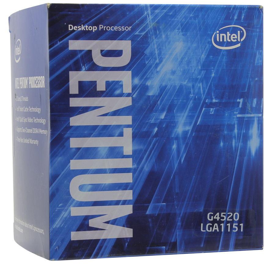 Процессор Intel Pentium G4520 Skylake (3600MHz, LGA1151, L3 3072Kb), BOX BX80662G4520