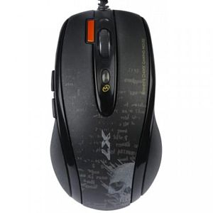 Фотография: Мышь A4Tech V-Track F5-1 Gaming Mouse Mystic Black USB - оптическая лазерная, USB, кол-во клавиш: 7, 3000 dpi