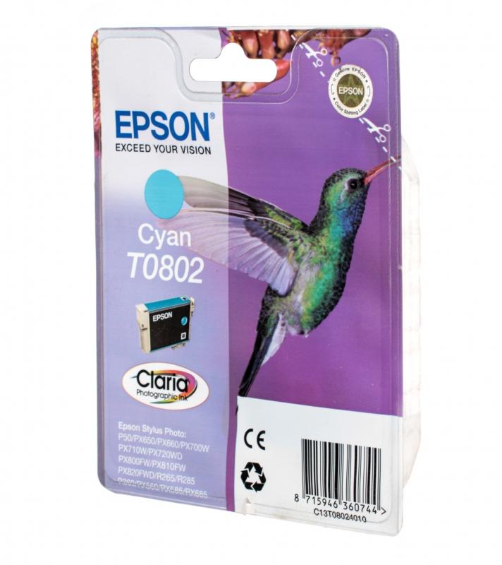 Картридж струйный Epson T0802 cyan C13T08024011