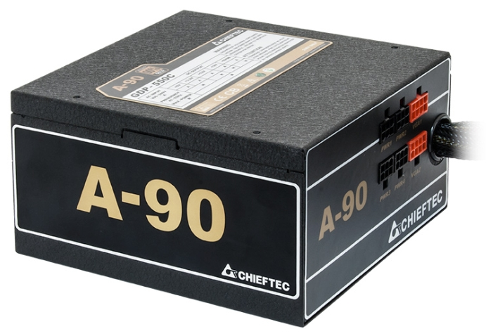 Chieftec GDP-750C 750W Black - (750 Вт, ATX V2.3, APFC, вентилятор 14 см, PCI-E 4шт / SATA 8шт / Molex 3шт, +5В 22A, +12В 62A, 80 PLUS Gold, Отстегивающиеся кабели)
