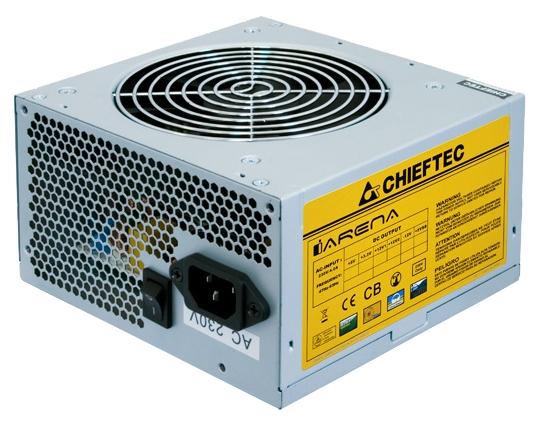 Chieftec GPA-400S8 v.2.3 400W - 400 Вт, 1 вентилятор (120 мм), PFC активный, линия +12В(1) - 18 A, линия +12В(2) - 17 A • Molex: 2
