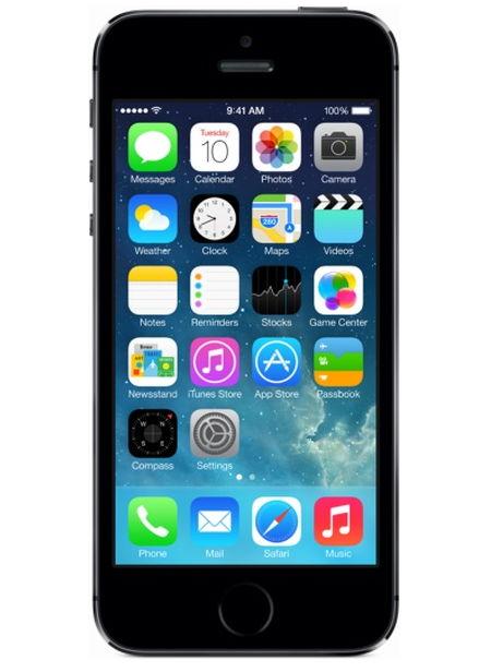Apple iPhone 5S 16Gb (как новый), Space gray - (iOS 8; GSM 900/1800/1900, 3G, 4G LTE; SIM-карт 1 (nano SIM); Apple A7, 1300 МГц; RAM 1 Гб; ROM 16 Гб; 1560 мАч; 8 млн пикс., 3264x2448, светодиодная вспышка; есть, 1.2 млн пикс.; датчики - освещенности, приближения, гироскоп, компас, считывание отпечатка пальца)