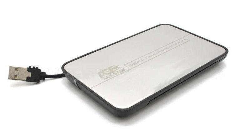 Корпус для жесткого диска AgeStar SUB2A8, Black Silver SUB2A8-SILVER