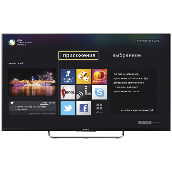 "Sony KDL-50W808C - (50"" (127 см); 1920x1080; 1000 Гц • AV, аудио x2, компонентный, SCART, HDMI x4, MHL, USB x3, Ethernet (RJ-45), Bluetooth, Wi-Fi • поддержка 3D есть, затворная технология, конвертация 2D в 3D; DVB-T DVB-T MPEG4; DVB-T2 есть; DVB-S есть; DVB-S2 есть; DLNA есть; Smart TV есть)"