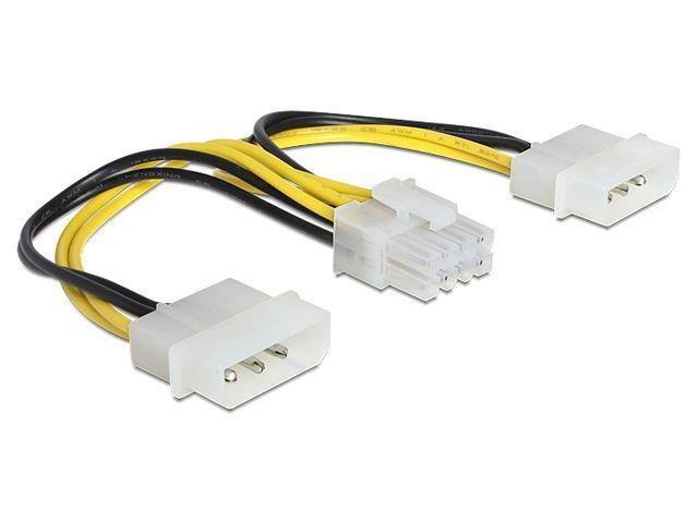Переходник 2x Molex - EPS (F) 8 pin