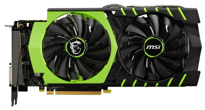 ���������� MSI GeForce GTX 970 1140Mhz PCI-E 3.0 4096Mb 7010Mhz 256 bit 2xDVI HDMI HDCP 100ME (GTX 970 GAMING 100ME)