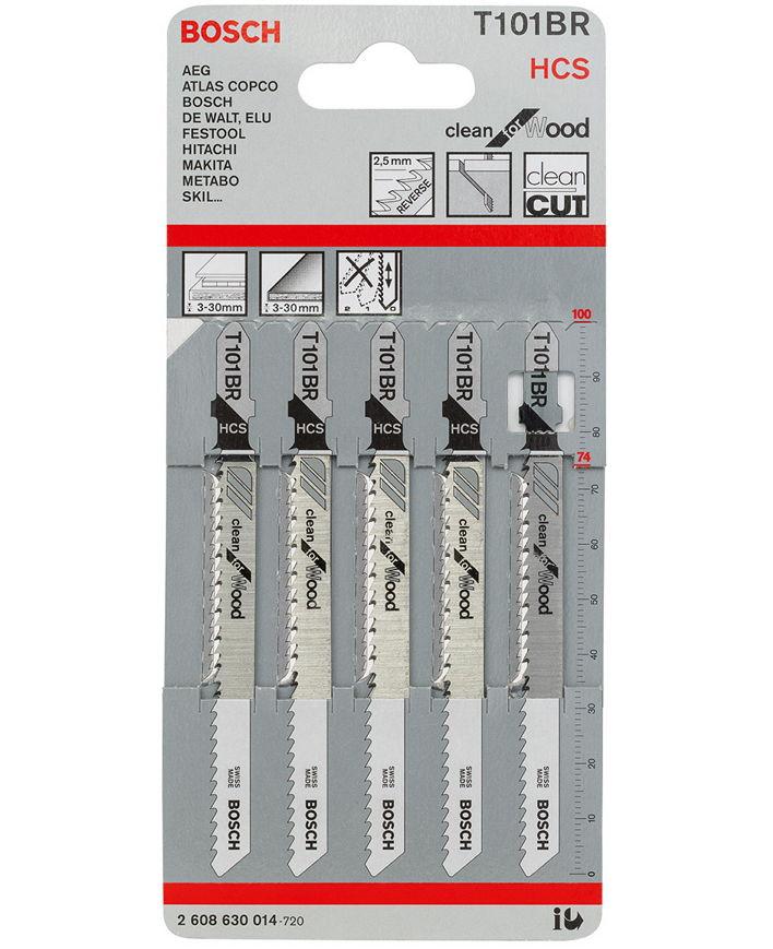 Полотна пильные BOSCH 2608630014 (5x T101 BR, HCS, 100 мм)