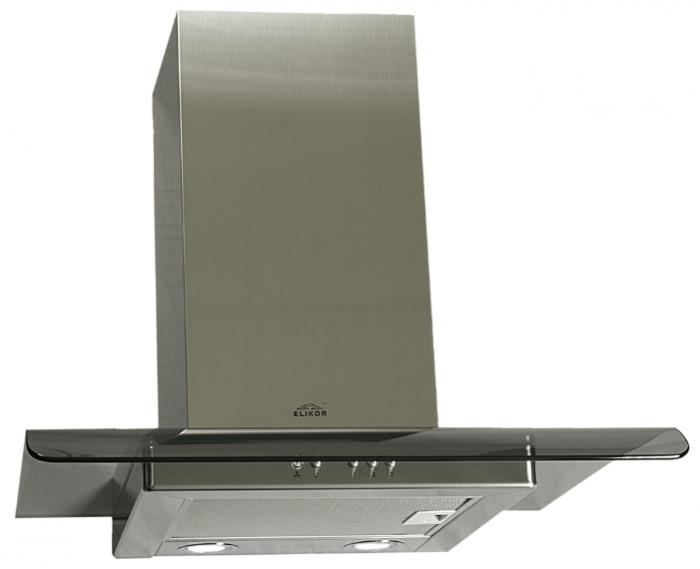 Вытяжка каминная Elikor Топаз 60Н-430-К3Г stainless steel\tinted glass 1 60Н-430-К3Г нерж/тонир 1