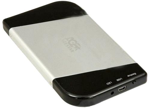 Корпус для жесткого диска AgeStar SUB2A7 black/silver