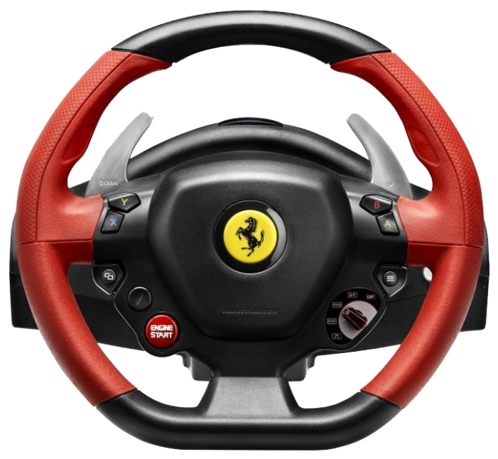 Thrustmaster Ferrari 458 Spider Racing Wheel - для Xbox One; руль 28 см; кнопок 12; педали - газ, тормоз 4460105