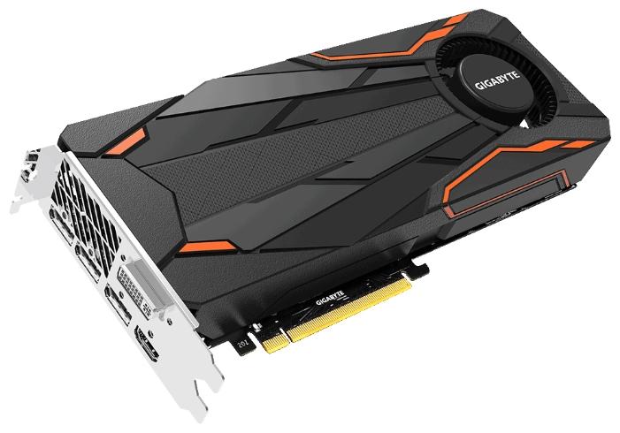 Gigabyte GeForce GTX 1080 1632Mhz PCI-E 3.0 8192Mb 10010Mhz 256 bit - (NVIDIA GeForce GTX 1080, 16 нм, 1632 МГц, 8192 Мб GDDR5X@10010 МГц 256 бит, TDP 180 Вт • Разъёмы: DVI-D, поддержка HDCP, HDMI, DisplayPort x3.)