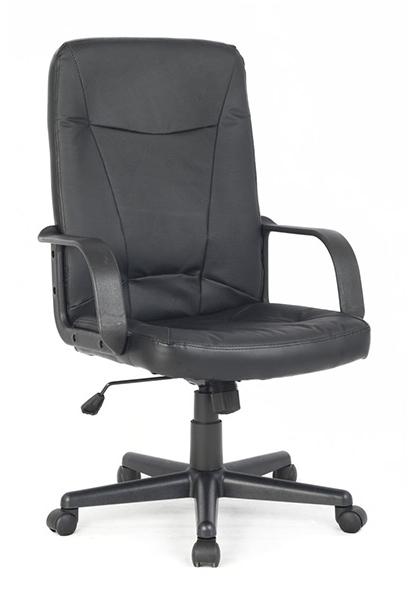COLLEGE H-8365L-1, Black - (газлифт; высота сидения 47 - 59 см; спинка 64 см; Нагрузка до 120 кг • Обивка - экокожа)