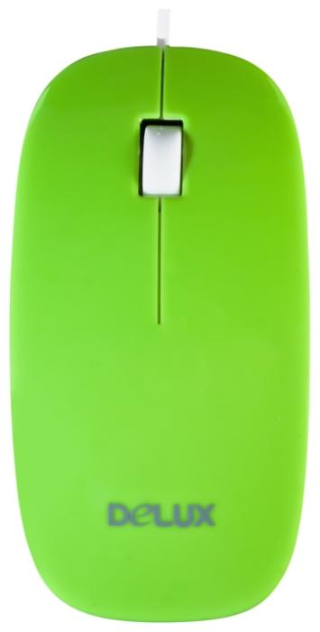 Мышь Delux DLM-111 Green USB DLM-111 зелено-белый