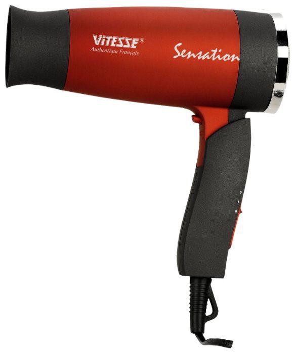 VITESSE VS-927 - компактный фен; мощность 1800 Вт; режимов 2