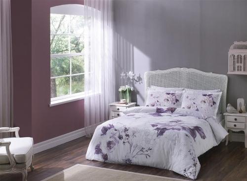 Комплект постельного белья ТАС Satin: Davina, 2 сп, lilac 3081-07093