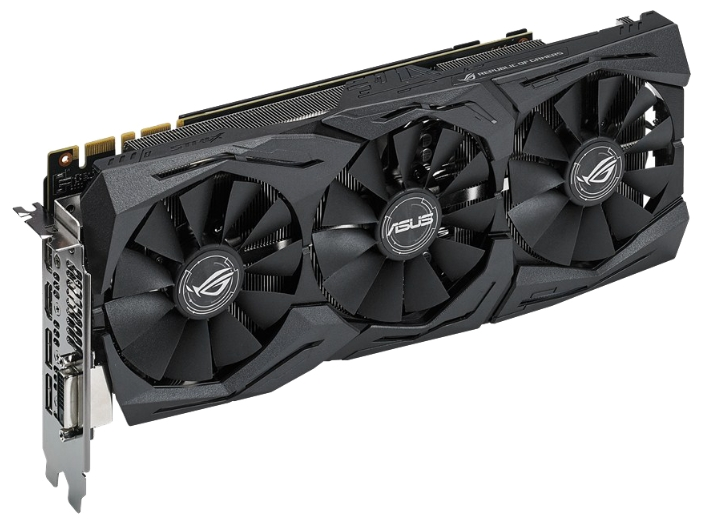 ASUS GeForce GTX 1080 1670Mhz 8192Mb - NVIDIA GeForce GTX 1080, 16 нм, 1670 МГц, 8192 Мб GDDR5X@10010 МГц 256 бит, TDP 180 Вт • Разъёмы
