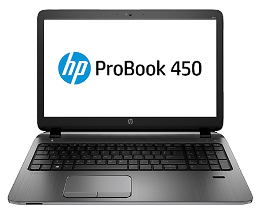 HP ProBook 450 G2 (P5T33ES), black - (Intel Core i3 5010U 2100 МГц. Экран 15.6 дюймов, 1366x768, широкоформатный. ОЗУ 4 Гб DDR3L 1600 МГц. Накопители HDD 500 Гб; DVD-RW, внутренний. GPU AMD Radeon R5 M255. ОС)