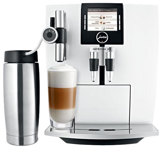 Jura Impressa J85 white - эспрессо, автоматическое приготовление; кофе - молотый / зерновой; нагреватель - термоблок; резервуар 2.1