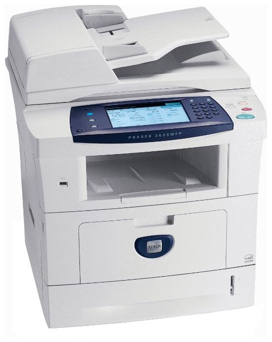 Xerox Phaser 3635MFP/X - ((принтер/копир/факс/телефон); A4; черно-белая; печать 35 стр/мин (ч/б А4); двухсторонняя печать есть • Печать на: карточках, пленках, этикетках, глянцевой бумаге, конвертах, матовой бумаге)