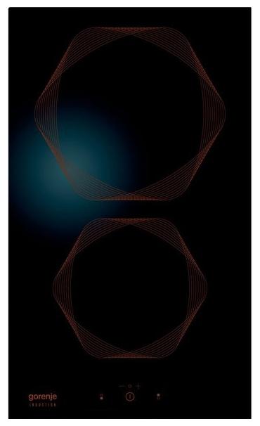 Gorenje Infinity IT332INB, black - (независимая, электрическая варочная поверхность, панель управления спереди, переключатели сенсорные • всего конфорок 2, керамических 2, конфорок Hi Light 2, панель - стеклокерамика • Цвет панели конфорок – черный)