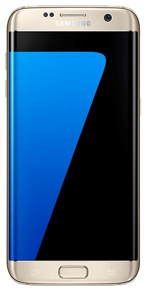 Samsung Galaxy S7 Edge 32Gb, Gold - (; GSM 900/1800/1900, 3G, 4G LTE, LTE-A Cat. 9, VoLTE; SIM-карт 2 (nano SIM); RAM 4 Гб; ROM 32 Гб; 3600 мА?ч; 12 млн пикс., светодиодная вспышка; есть, 5 млн пикс.; датчики - освещенности, приближения, Холла, гироскоп, компас, барометр, считывание отпечатка пальца)
