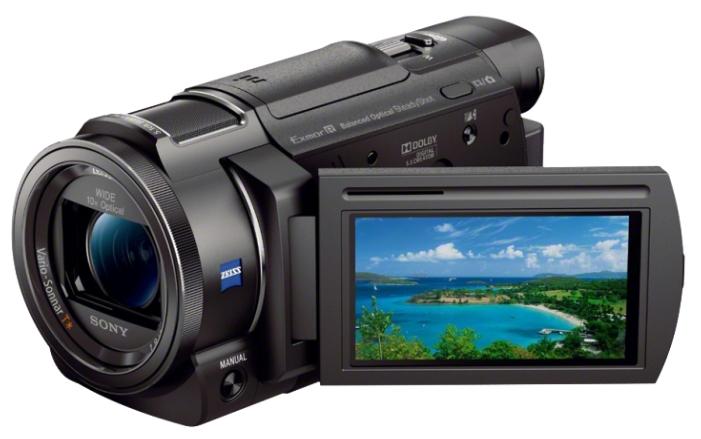 Sony FDR-AX33 black - (Zoom: 10x / 120x, 8.29 Мпикс, карты памяти: MS Duo, стабилизатор изображения: оптический)