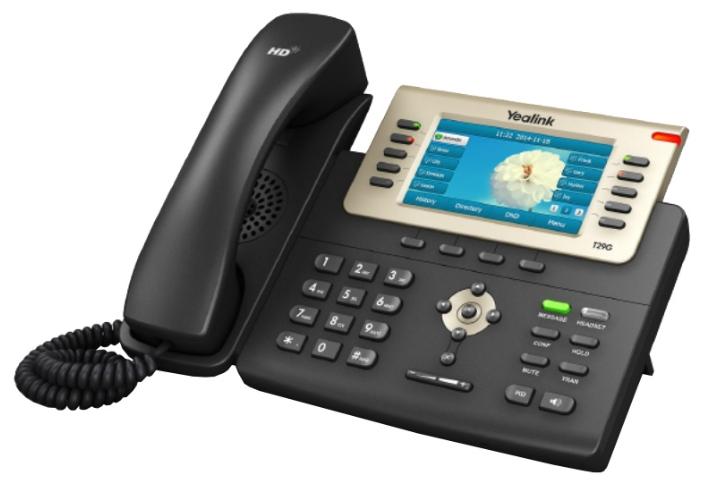 VoIP-телефон Yealink SIP-T29G, USB, WAN, LAN, Gigabit LAN, 16 линии, есть определитель номера
