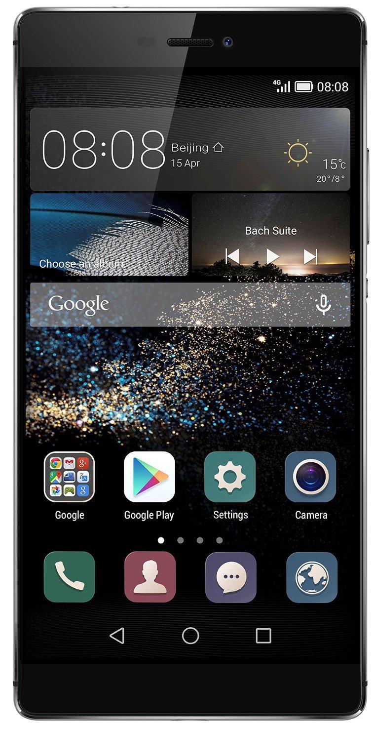 Huawei Ascend P8, Silver - (Android 5.0; GSM 900/1800/1900, 3G, 4G LTE; SIM-карт 2; HiSilicon Kirin 930, 2000 МГц; RAM 3 Гб; ROM 16 Гб; 2680 мАч; 13 млн пикс., светодиодная вспышка; есть, 8 млн пикс.; датчики - освещенности, приближения, гироскоп, компас)