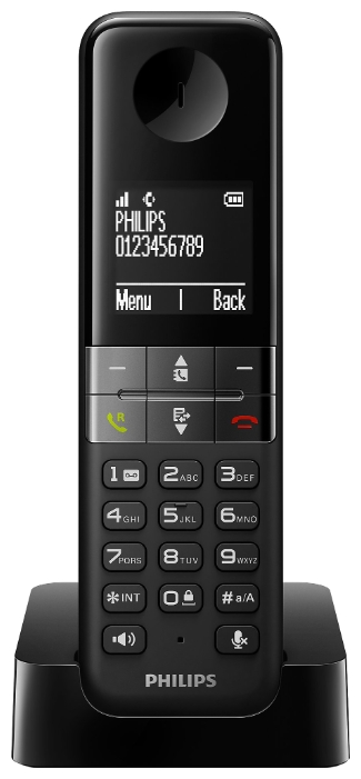 Радиотелефон Philips D 4501, Black D4501B/51