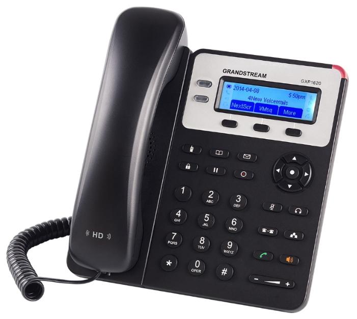 VoIP-телефон Grandstream GXP-1620, WAN, LAN, 2 линии, есть определитель номера