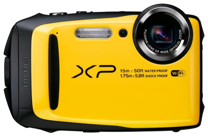 Fujifilm FinePix XP90, yellow - (16.76 млн, оптический zoom: 5x, 1920x1080, 10 кадр./сек, 920000 точек, 3 дюйма)