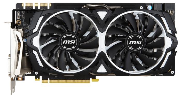 Видеокарта MSI GeForce GTX 1080 1657Mhz PCI-E 3.0 8192Mb 10010Mhz 256 bit DVI HDMI HDCP GTX 1080 ARMOR 8G OC