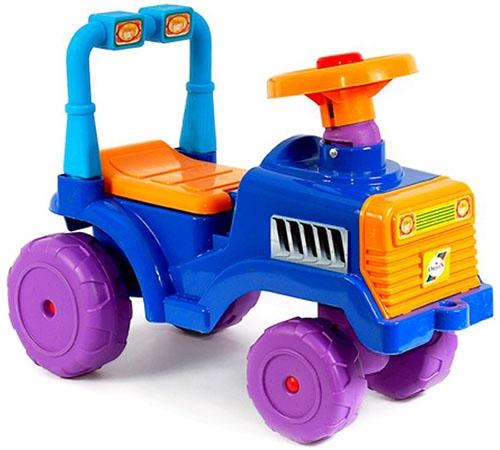 RT Трактор B Сине-оранжевый - от 10 месяцев; макс.нагрузка 27 кг; материал(ы) высококачественный пластик