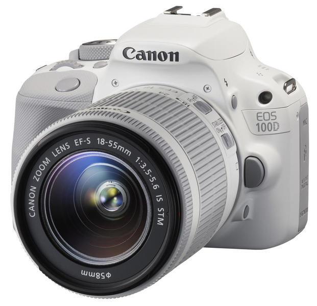 Canon EOS 100D Kit (EF-S 18-55mm IS STM), white - (18.5 млн, 1920x1080, 4 кадр./сек, ЖК-экран: сенсорный, 1040000 точек, 3 дюйма)