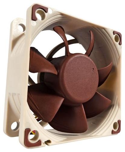 Noctua NF-A6x25 60mm, 1600-3000rpm FLX - (60x60x25 мм; вентиляторов 1; 1600 - 3000 об/мин; 3-pin; 8.2 - 19.3 дБ; 9.829 - 17.19 CFM; подшипник с магнитным центрированием)