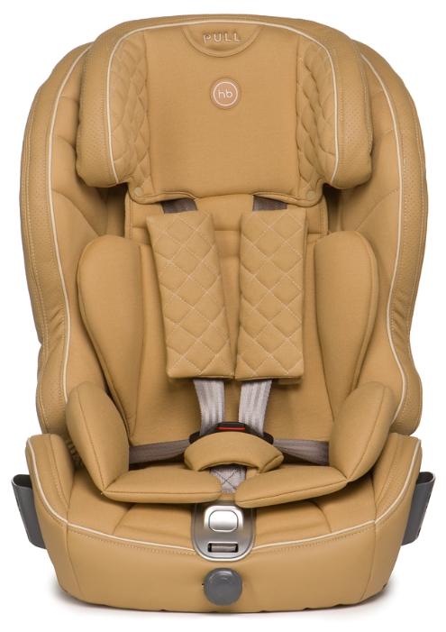 Автокресло группы 1-2-3 (9-36 кг) Happy Baby Mustang Isofix, бежевое