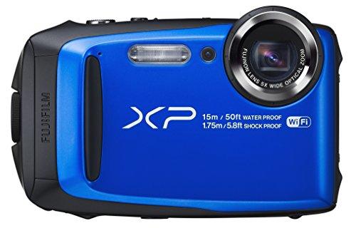 Fujifilm FinePix XP90, blue - (16.76 млн, оптический zoom: 5x, 1920x1080, 10 кадр./сек, 920000 точек, 3 дюйма)