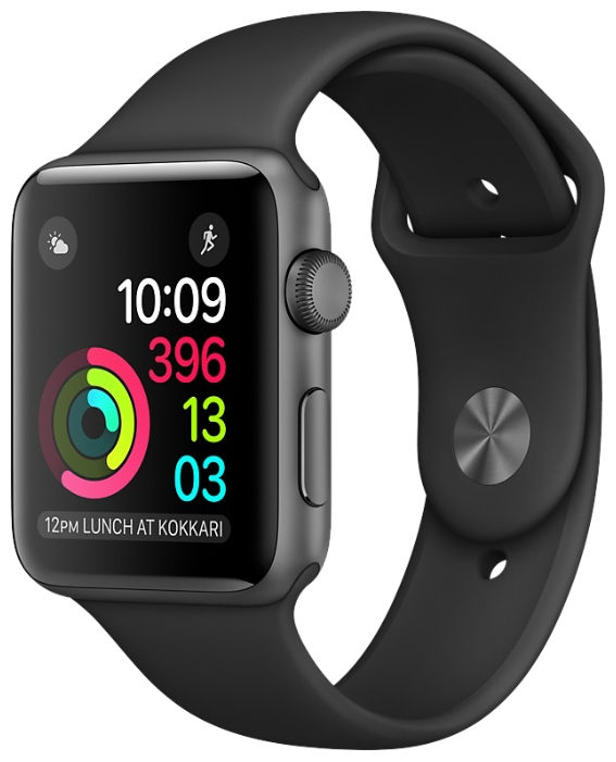 Смарт-часы Apple Watch Series 1 38mm Sp.Grey Al/Black MP022RU/A
