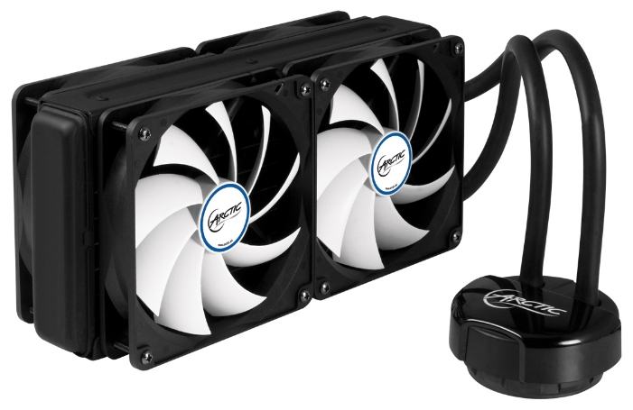 Arctic Cooling Liquid Freezer 240 - для процессора; вентиляторов 4 (120x120x25 мм); 500 - 1350 об/мин; радиатор - алюминий • LGA1150