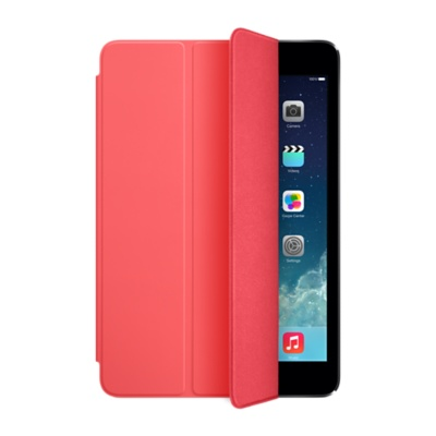 iPad Apple mini Smart Cover Pink - (Трансформер; для экрана 7.9; застёжка - Магнитная; полиуретан; Розовый • назначение - Apple iPad mini)