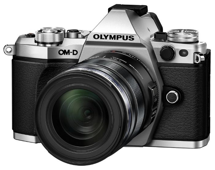 Olympus OM-D E-M5 Mark II Kit (EZ-M1415 II) silver/black - (17.2 млн, 1920x1080, 10 кадр./сек, ЖК-экран: поворотный, сенсорный, 1037000 точек, 3 дюйма)